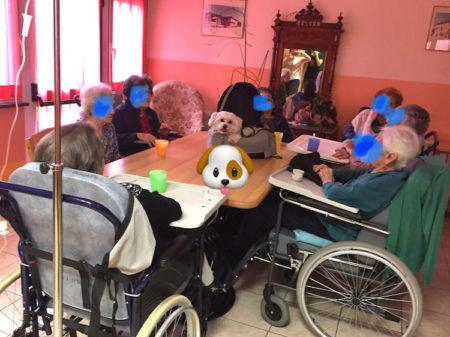 Progetto di pet therapy presso la casa di riposo RSA Villa Serena Magliano Alfieri (CN) - 2018