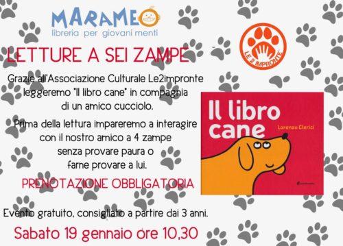 Letture a 6 zampe laboratorio di lettura con cane in libreria ad Alba