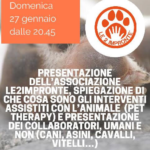 locandina serata presentazione pet therapy Alba