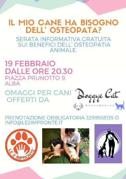 serata informativa osteopatia animale