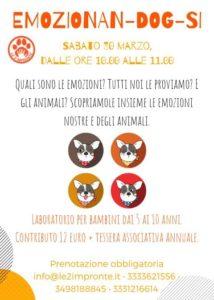 laboratorio emozioni bambini e cani
