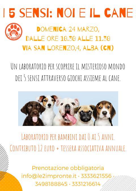I 5 sensi noi e il cane-laboratorio per bambini