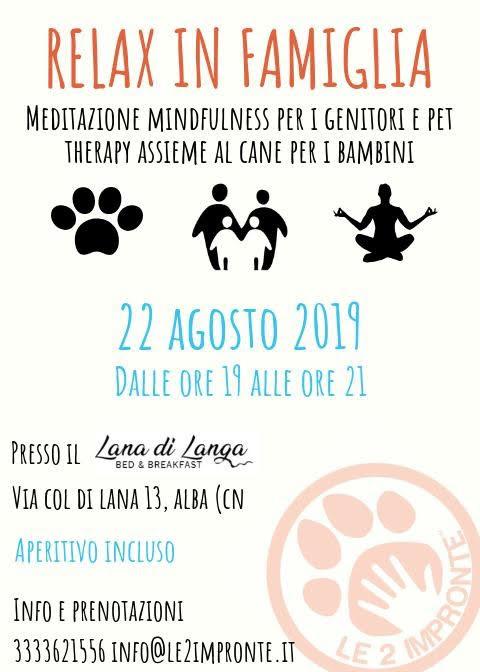 Relax in famiglia – pet therapy per bambini mindfulness per genitori