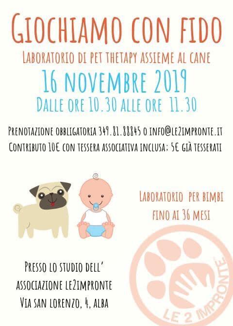 Giochiamo con fido – laboratorio per bambini 0 – 36 mesi