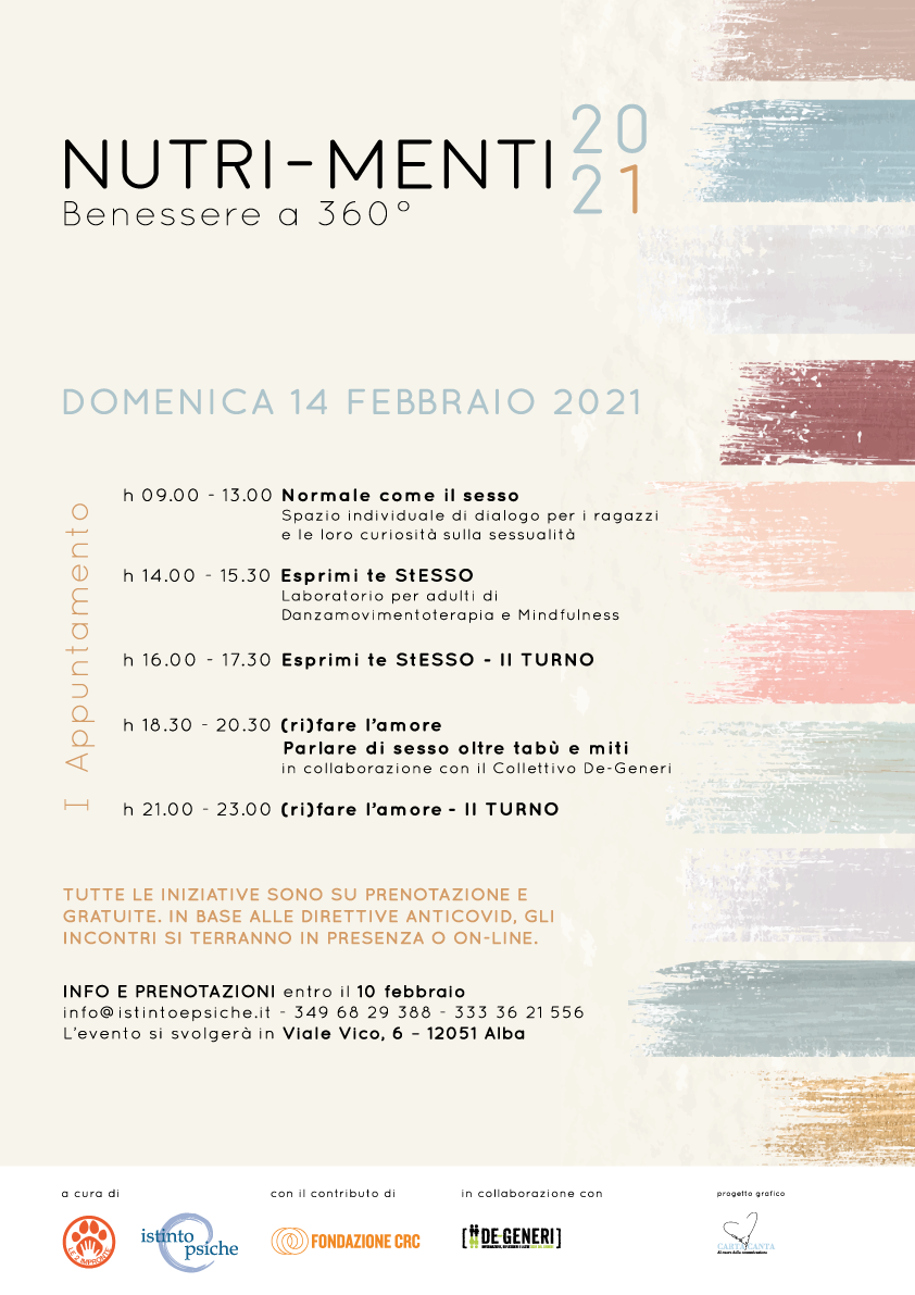 Nutri-Menti – I appuntamento il 14/02/2021