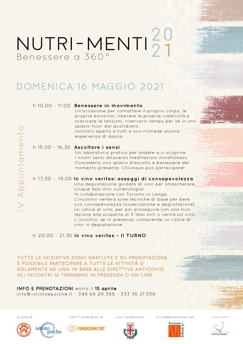 Nutri-Menti – IV appuntamento 16/05/2021